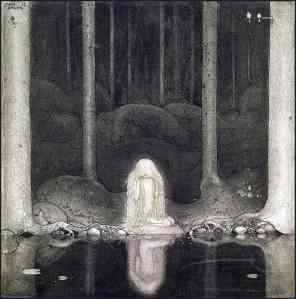 J. Bauer (1913): Prinsessan Tuvstarr och fiskdammen.